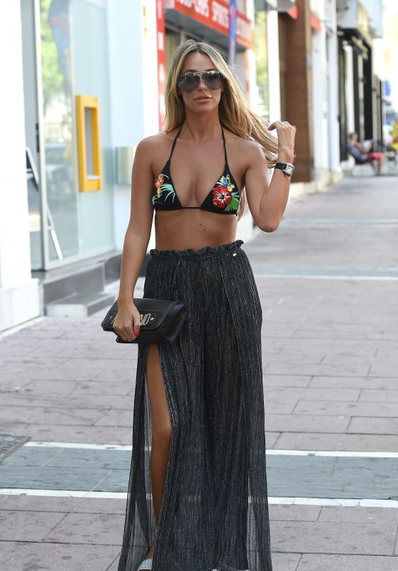 "Chloe Sims, Amber Dowding and Georgia Kousoulou - ""The Only Way Is Essex"" Filming in Marbella 08/10/2017"