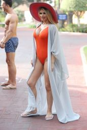 """Chloe Sims in Swimsuit - """"The Only Way is Essex"""" Cast in Marbella 08/08/2017"""
