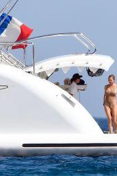 Chrissy Teigen in Swimsuit On Yacht in Corsica 08/28/2017