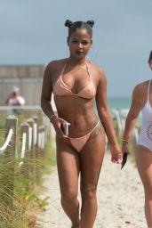 Christina Milian Hot in Bikini - Beach in Miami 08/20/2017