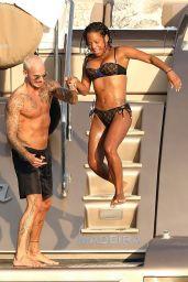 Christina Milian in Louis Vuitton Bikini on a Yacht in Saint-Tropez 08/24/2017