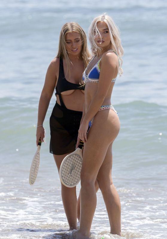 Chyna Ellis and Tyne-Lexy Clarson at the Beach in Marbella, Spain 08/09/2017