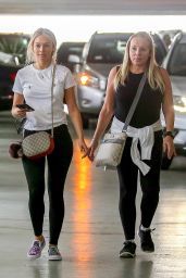 Corinne Olympios in Tights - Shopping With Her Mom in West Hollywood 08/11/2017