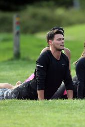 Courtney Green & Chloe Meadows - Film a Yoga Scene Outdoors in an Essex Park 08/24/2017