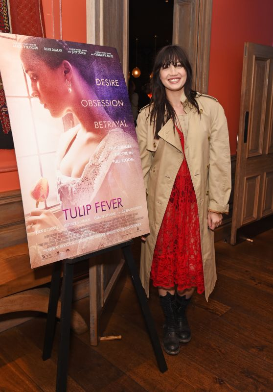 """Daisy Lowe - """"Tulip Fever"""" VIP Preview Screening at The Soho Hotel in London 08/13/2017"""