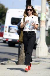Dakota Johnson Showing Off Her Trendy Style - LA 08/29/2017