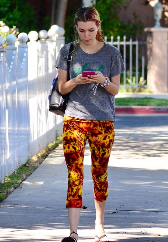 Dani Thorne in Funky Tights - Out in LA 08/30/2017