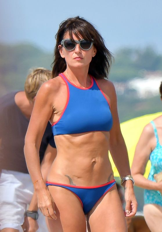 Davina McCall in Blue Bikini On Holiday in Saint-Tropez 08/27/2017