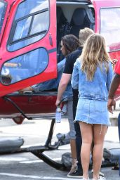 Demi Lovato - Boarding an Helicopter in New York City