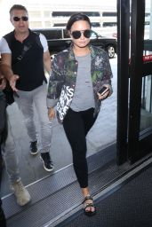 Demi Lovato - Catches a Departing Flight Out of LAX Airport 08/14/2017