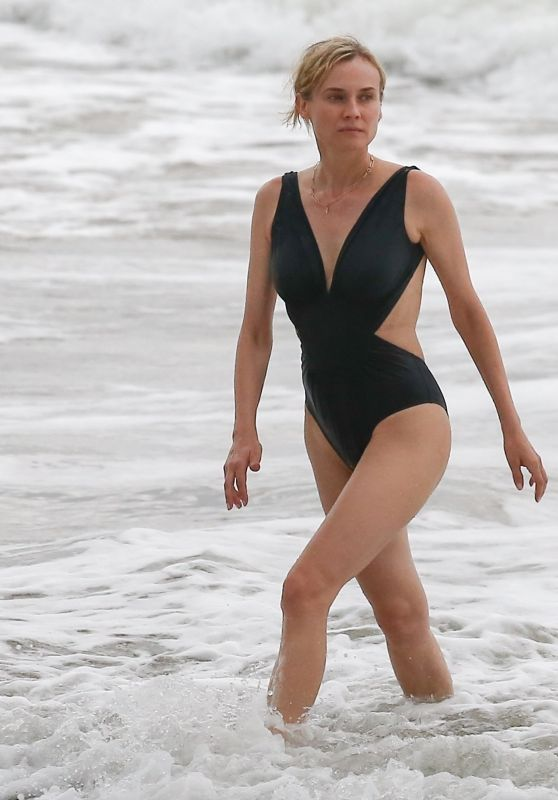 Diane Kruger in  Swimsuit - On the Beach in Costa Rica 08/10/2017