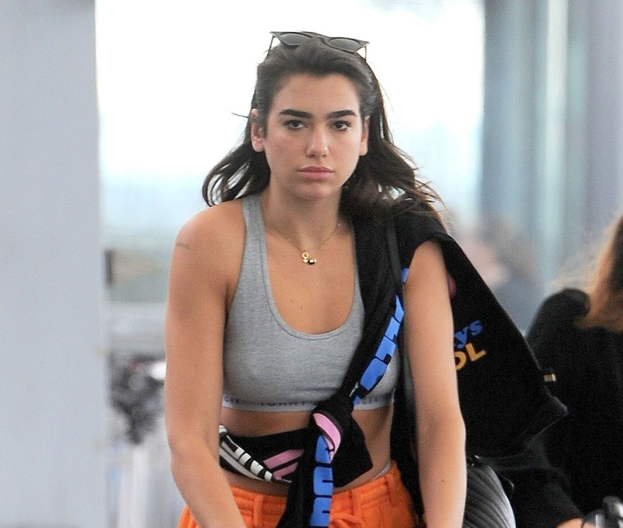 Dua Lipa At Heathrow Airport Heading Off For Her