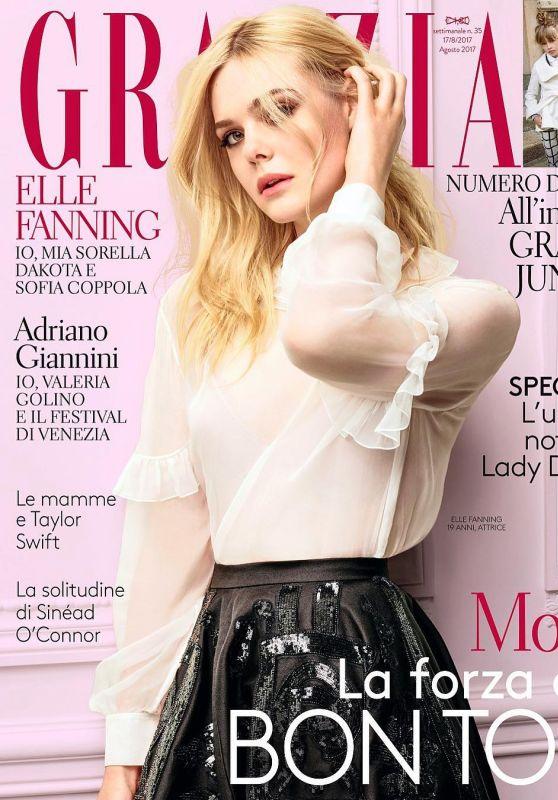 Elle Fanning - Grazia Magazine Italia August 2017 Cover