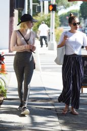 Emma Roberts & Lea Michele - Out in West Hollywood, CA 08/17/2017