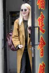 Emma Stone is All Smiles - Eats Out in New York 08/13/2017