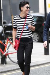 Emma Willis - Grabs Coffee Before Her Radio Appearance in London 08/12/2017