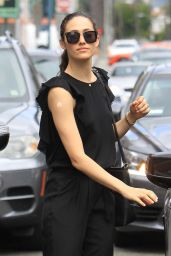 Emmy Rossum – With a Patch on Her Arm in Beverly Hills, CA 08/15/2017