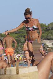 Esther Canadas Wearing a Floral Bikini - Ibiza 08/25/2017