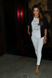 Eva Longoria in Tights - Leaving Tao Restaurant in Hollywood 08/22/2017