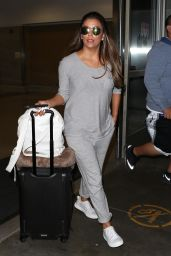 Eva Longoria in Travel Outfit - LAX Airport in Los Angeles 08/15/2017