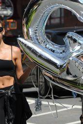 Georgia Fowler - Holding CK Balloons in NYC 08/17/2017