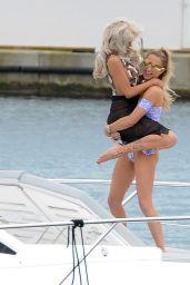Georgia Harrison and Hannah Elizabeth Bikini Photoshoot on a Boat in Spain 08/21/2017