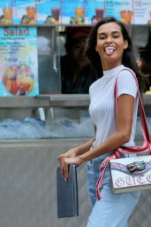 Gizele Oliveira Style - Arrives at Casting for 2017 Victoria