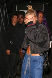 Hailey Baldwin With Justine Skye - Nice Guy Club in West Hollywood 08/23/2017