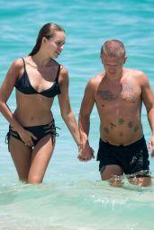 Hanna Ivanova in Bikini - Cools Down in the Ocean From the Miami Heat 08/14/2017