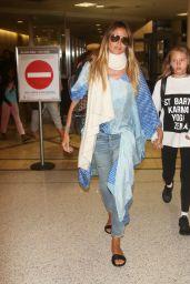 Heidi Klum - Arriving at LAX in LA 08/13/2017