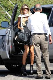 Heidi Klum in Black Minni Dress - Leaving Celebrity Hair Salon in Beverly Hills 08/18/2017