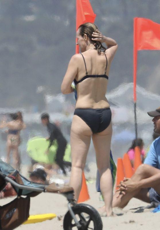 Helen Hunt in Bikini - Boogie Boarding in Santa Monica 08/16/2017