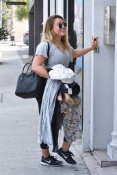Hilary Duff - Heads to a Dance Class on Melrose in LA 08/25/2017