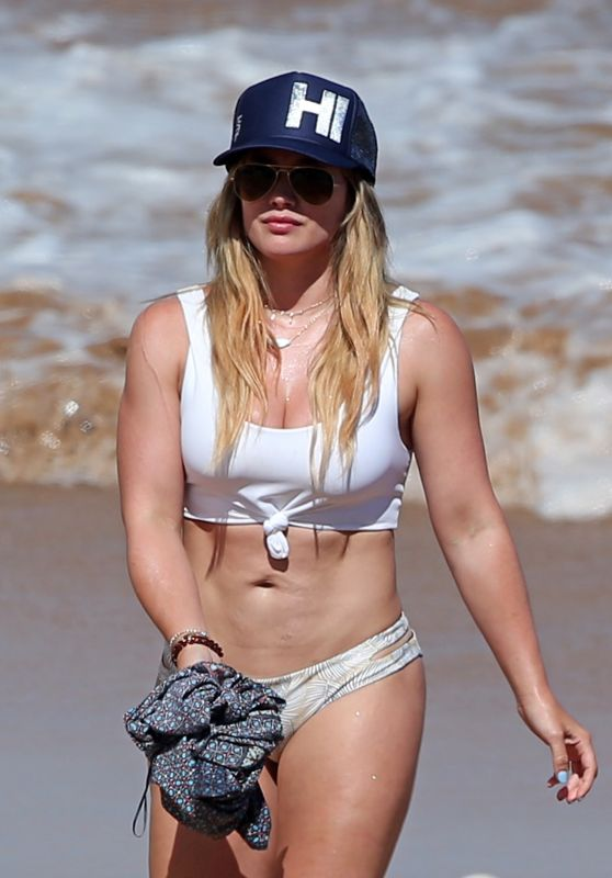 Hilary Duff in Bikini at the Beach in Maui 07/04/2017