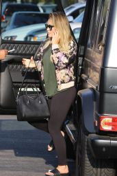 Hilary Duff in Tights - Heads to Yoga Class in West Hollywood 08/24/2017