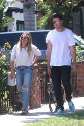 Hilary Duff With Her Boyfriend Ely Sandvik - Out in LA 08/20/2017