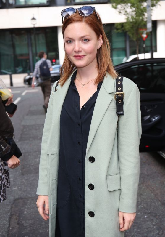 Holliday Grainger - Exits Chris Evans Show BBC Wogan House 08/04/2017