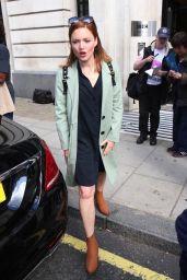 Holliday Grainger - Exits Chris Evans Show BBC Wogan House 08/04/2017
