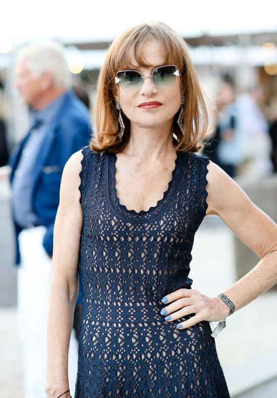 """Isabelle Huppert - Watermill Centre Summer """"Fly Into The Sun"""" Benefit and Auction in NY 07/29/2017"""