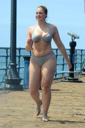 Iskra Lawrence in Bikini - Photoshoot For Her Website, Santa Monica 08/15/2017