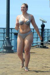 Iskra Lawrence in Bikini - Photoshoot For Her Website, Santa Monica 08/15/2017