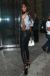 Jasmine Tookes – Arriving at the Victoria's Secret Fitting in NYC 08/29/2017