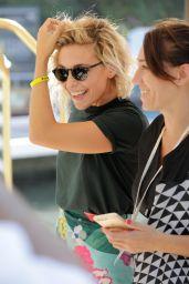 Jasmine Trinca Arriving at Lido - 74th Venice Film Festival 08/29/2017