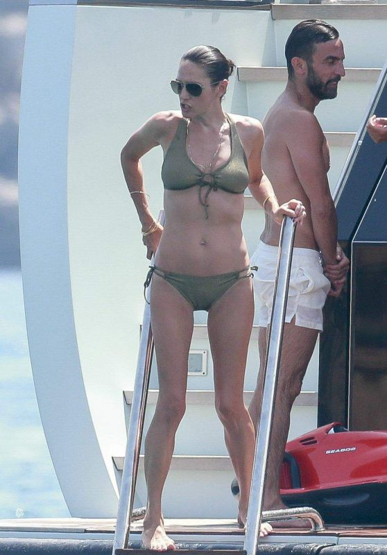 Jennifer Connelly in Bikini on a Boat in Ibiza 08/17/2017