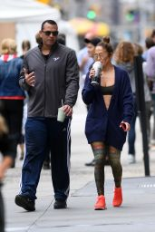 Jennifer Lopez and Alex Rodriguez - Heading Back Home After Workout at the Gym in NYC 08/29/2017