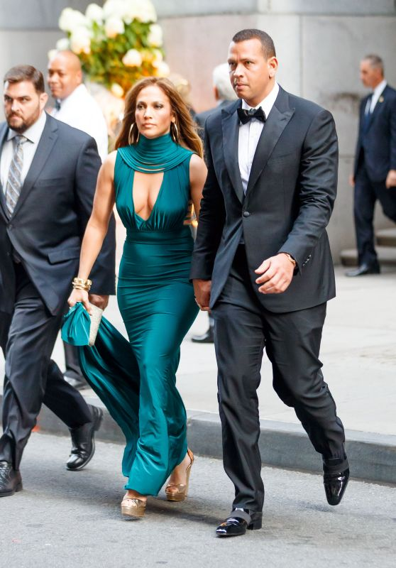Jennifer Lopez and Alex Rodriguez - Heading Into Friends Wedding in NYC 08/06/2017