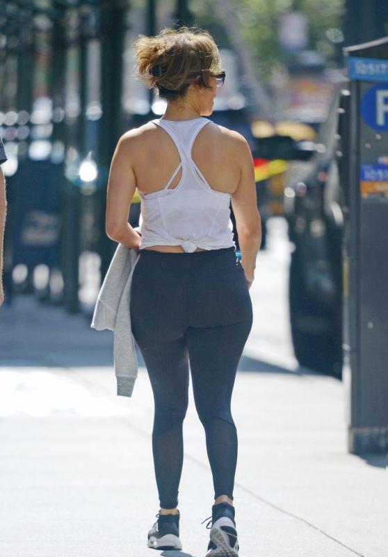 Jennifer Lopez Booty in Tights - New York City 08/11/2017