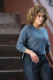 """Jennifer Lopez - Sheds Tears on Set of """"Shades of Blue"""" in NYC 08/11/2017"""