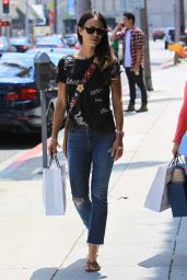 Jordana Brewster Casual Style - Shopping in Beverly Hills, CA 08/23/2017