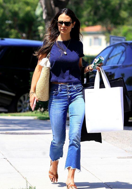 Jordana Brewster in Jeans - Shopping in Beverly Hills 08/16/2017